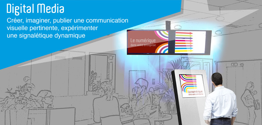 digital media, publier une communication visuelle
