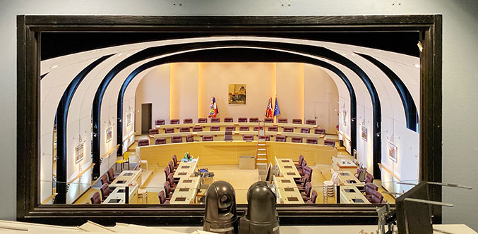 Salle des scéances régie audiovisuelle