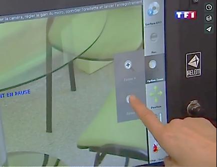 borne tactile audiovisuelle