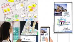 ecran tactile interactif vidéoprojecteur jamboard Samsung Flip Cisco Spark Board