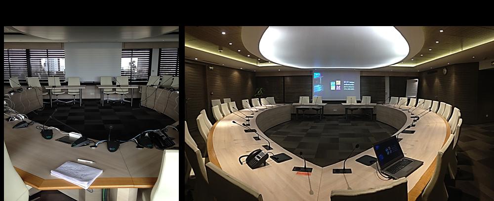 équipement audiovisue salle du conseil